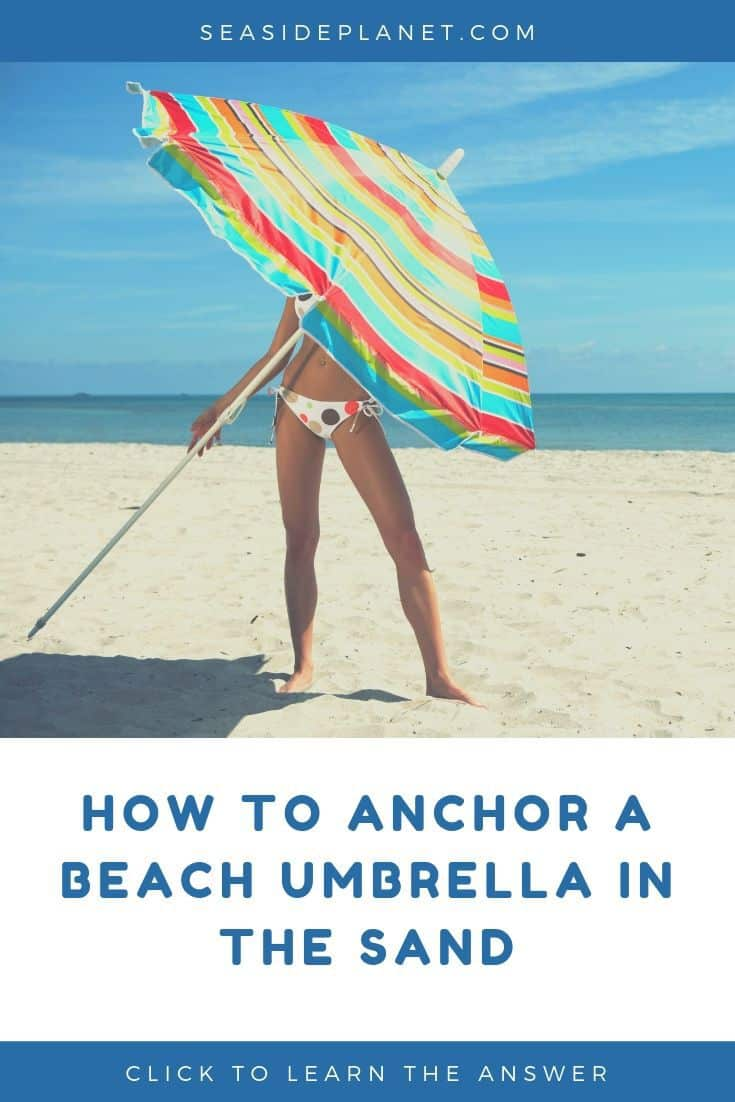 Do you want to know how to anchor a beach umbrella in the sand? Perfect, because we\'ll dig deep and answer the question every beach goer needs to know! #beachvacation #beachvacationessentials