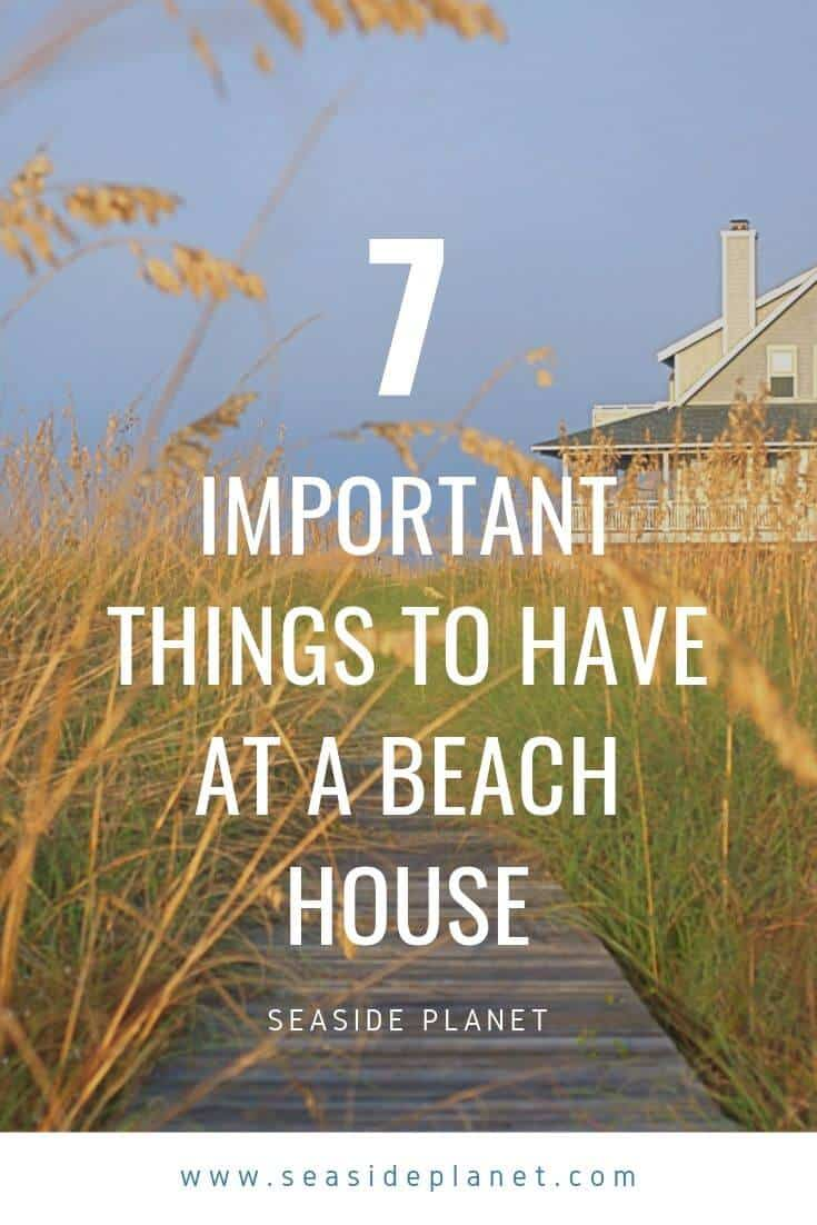 As you prepare to visit your beach house in the summertime, make sure that you have these seven areas covered to ensure a relaxing vacation. #beachlife #beach