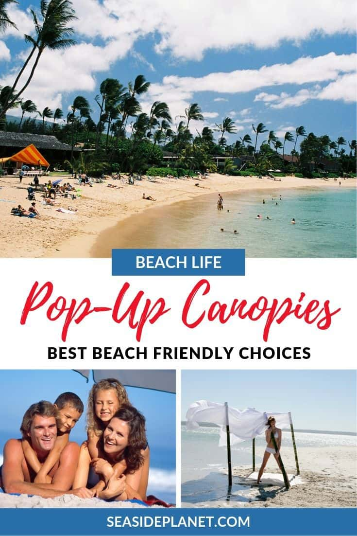 We\'re here to help you find the best pop up canopy for the beach. Let's get right to it so you can get some sun protection and enjoy your day at the beach. #BeachVacation #BeachVacationEssentials