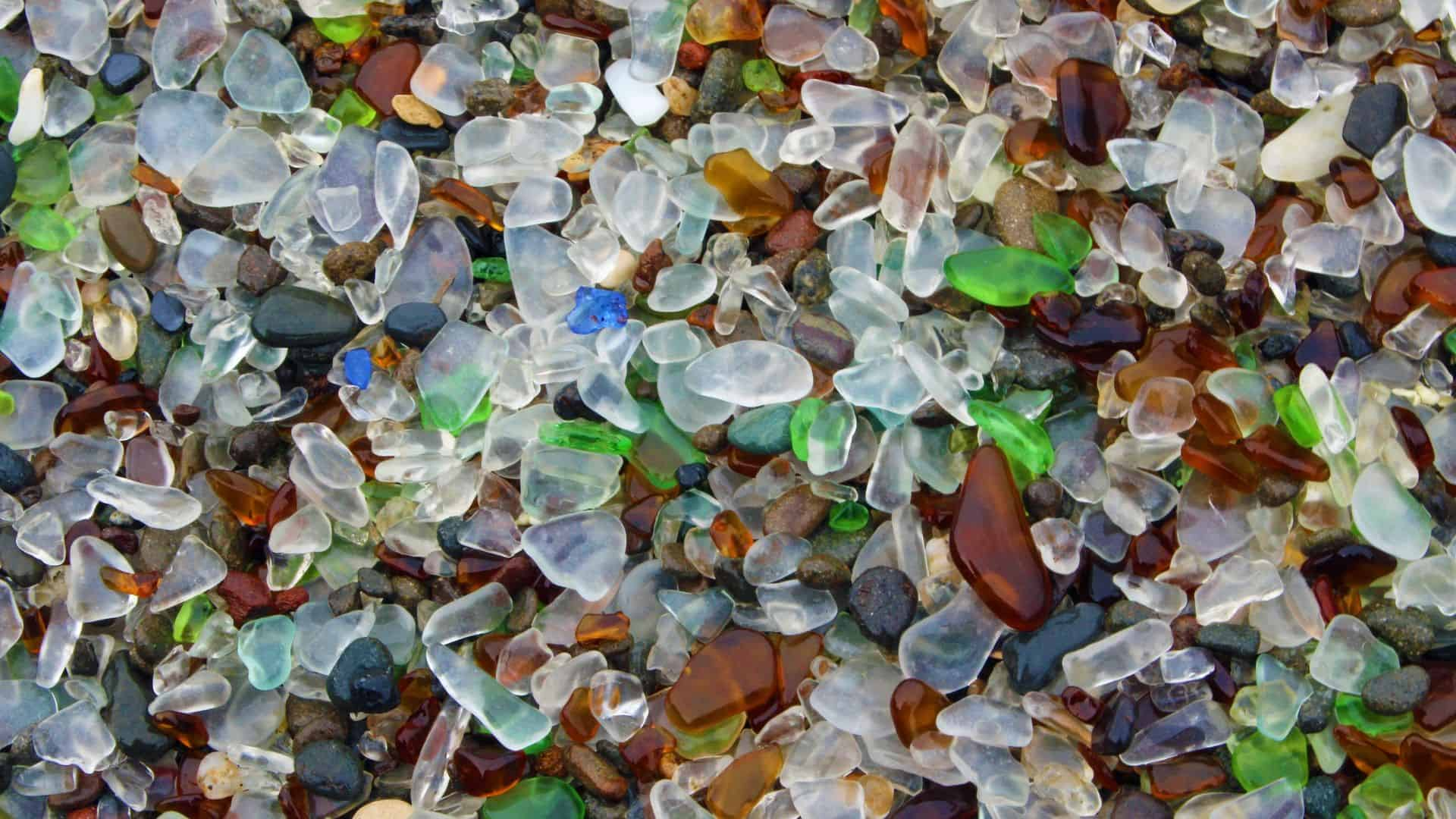 how beach glass is made