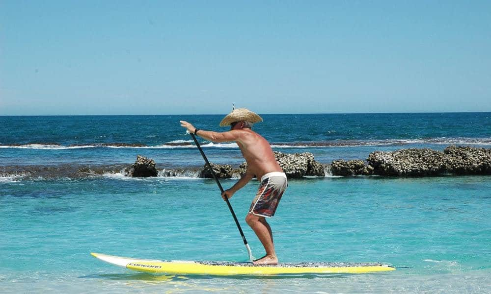 paddleboarding working out
