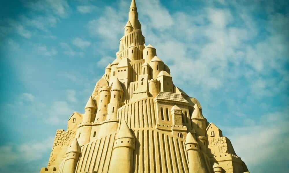 towering sand castle