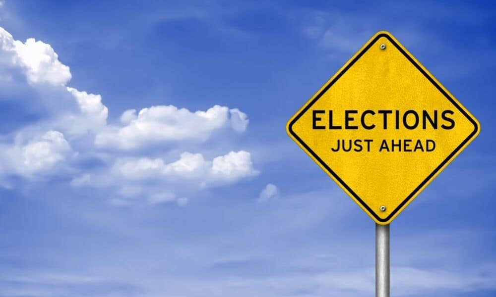 elections just ahead sign