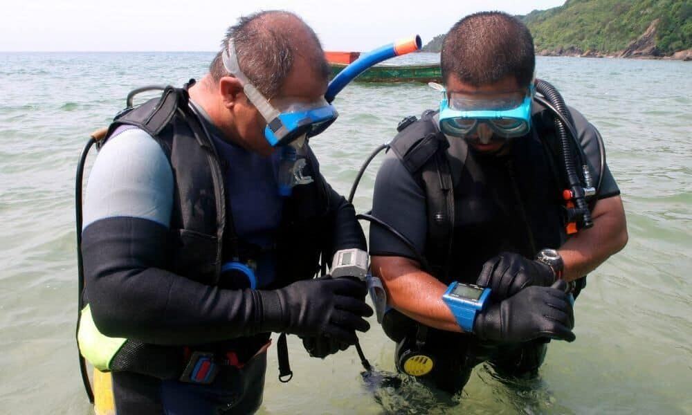 checking dive computers