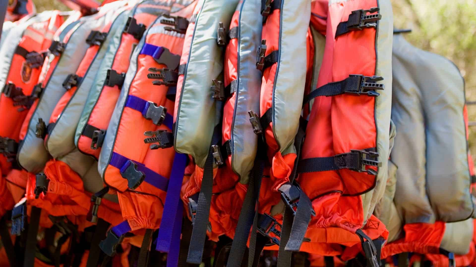 collection of life jackets