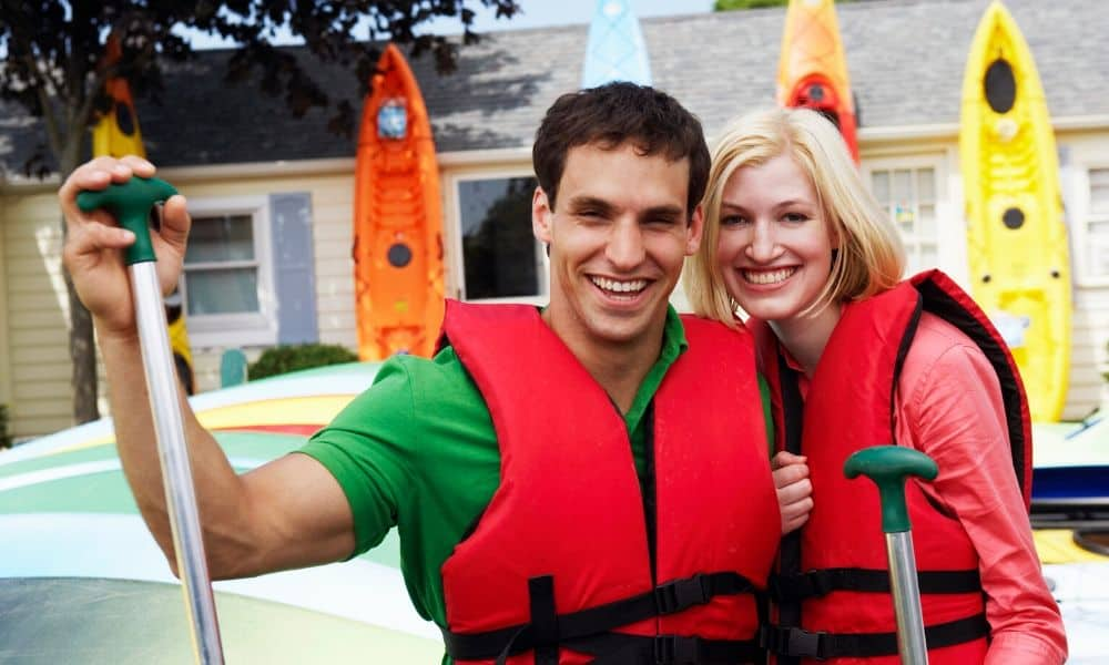 couple in life jackets
