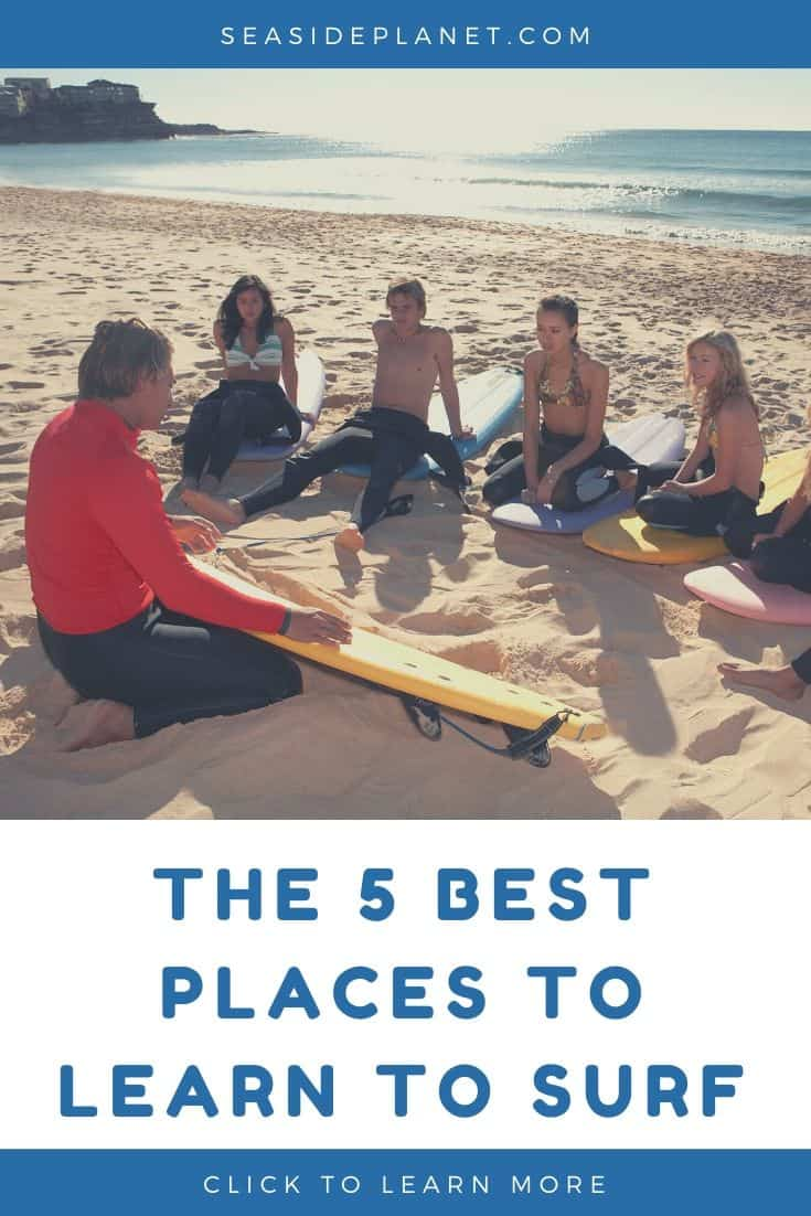 The 5 Best Places to Learn to Surf