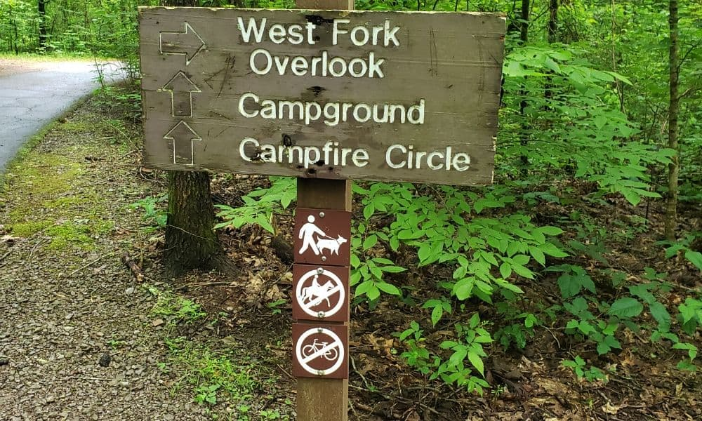campground regulations sign